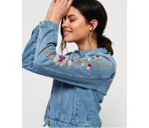 Girlfriend Jeansjacke blau