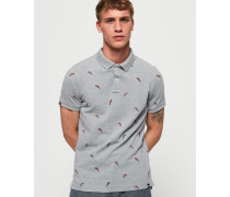 Bermuda Polohemd grau