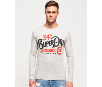 NYC Goods Co Langarm-T-Shirt hellgrau