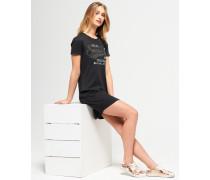 Schmal geschnittenes T-Shirt-Kleid dunkelgrau