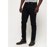 Schmal geschnittene Premium Tyler Jeans schwarz