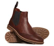 Brad Chelsea-Stiefel im Brogue-Stil braun