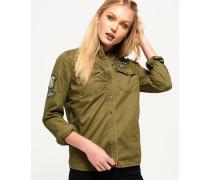 Rookie Military-Hemd mit Aufnähern grün