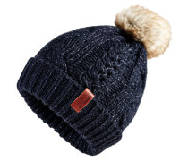 North Cable Beanie marineblau