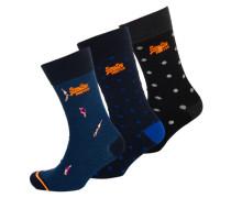 City Socken im 3er-Pack bunt