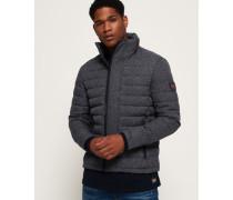 Fuji Tweed-Jacke mit Doppelreißverschluss