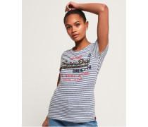 Shirt Shop T-Shirt mit Streifen blau