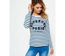 Appliqué Raglan Long Sleeve Shirt creme