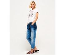 Schmal geschnittene Imogen Jeans blau