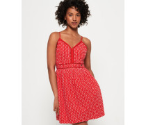 Jessie Trägerkleid mit V-Ausschnitt rot