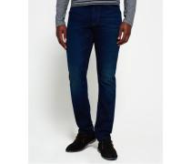 Biker Tapered Jeans blau