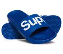Gummisandalen blau