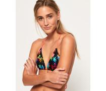 Triangel-Bikinioberteil mit Regenbogen-Palmen