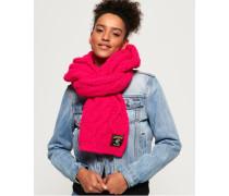 Chic Regal Schal mit Zopfmuster pink