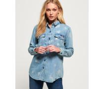 Übergroßes Jeanshemd marineblau
