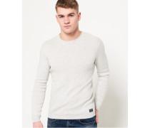 Rundhals-Sweatshirt aus Supima Baumwolle hellgrau