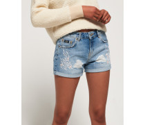 Steph Boyfriend-Shorts blau