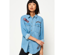 Supersize Jeanshemd blau