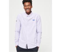 Premium Button-down-Hemd mit langen Ärmeln lila