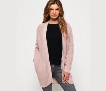 Brooke Cardigan mit Rippmuster pink