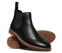 Brad Chelsea-Stiefel im Brogue-Stil schwarz
