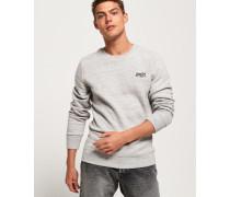 Orange Label Pullover mit Rundhalsausschnitt grau