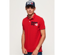 Classic Superstate Polohemd aus Pikee rot