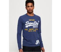 Shirt Shop Duo Langarm-T-Shirt blau