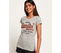 Shirt Shop T-Shirt mit Streifen hellgrau