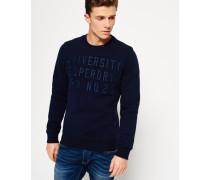 Core Appliqué Crew Sweatshirt marineblau