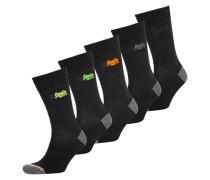 City Socken im 5er-Pack schwarz