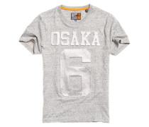Perforiertes Osaka T-Shirt mit Prägung hellgrau