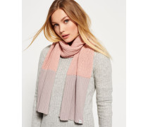 Colour Block Schal pink