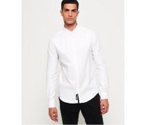 Schmal geschnittenes Premium Hemd weiß