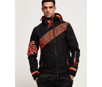Diagonal Snow Windjacke schwarz