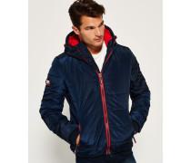 Sports Puffer Jacke marineblau