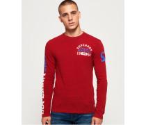 Track & Field Langarm-T-Shirt rot