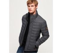Fuji Tweed-Jacke mit Doppelreißverschluss grau