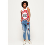 Riley Girlfriend-Jeans braun