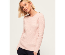 Croyde Pullover mit Zopfmuster pink
