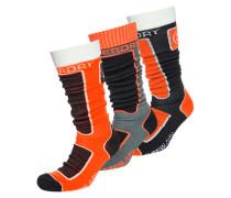 Snow Socken im Dreierpack schwarz