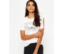 Midwest T-Shirt mit Ärmeleinschnitten creme