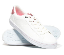 Niedrige, elegante Skater Sneaker weiß