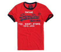 Shirt Shop Retro Ringer T-Shirt rot