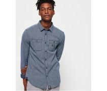 Indigo Loom Langarmhemd blau