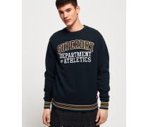 Kastenförmiges College Sweatshirt mit Rundhalsausschnitt