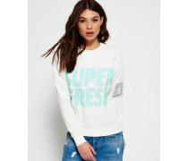 Freshness Pullover mit Rundhalsausschnitt weiß