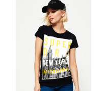 NYC T-Shirt mit großem Fotoprint schwarz