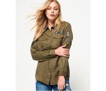 Hemd im Militär-Stil grün