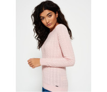 Summer Luxe Mini Cable Knit Pullover pink